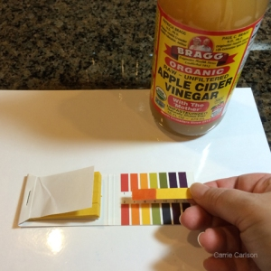 apple cider vinegar pH test