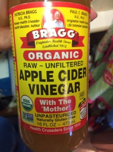 apple cider vinegar with the mother jar