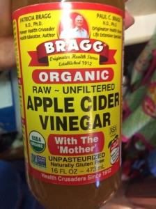 apple cider vinegar with the mother jar