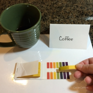 coffee pH test