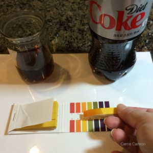 diet cola pH test