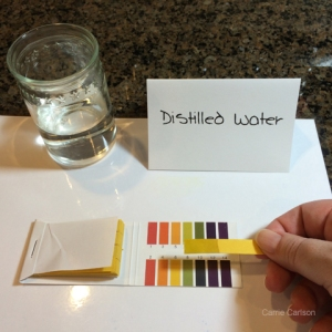 distilled water pH test