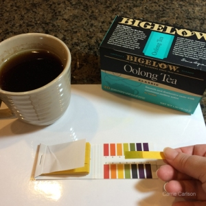 oolong tea pH test