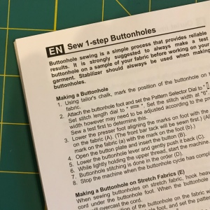 1-step buttonhole instructions image