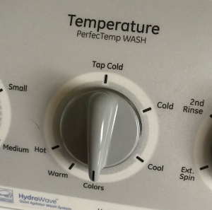 Washing machine temperature dial image