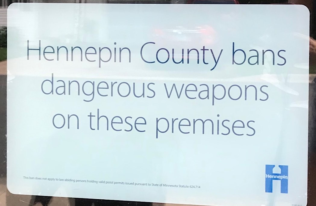 Dangerous weapons ban sign
