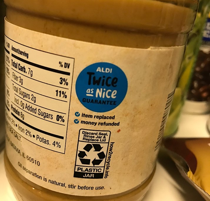 Aldi twice as nice guarantee label image