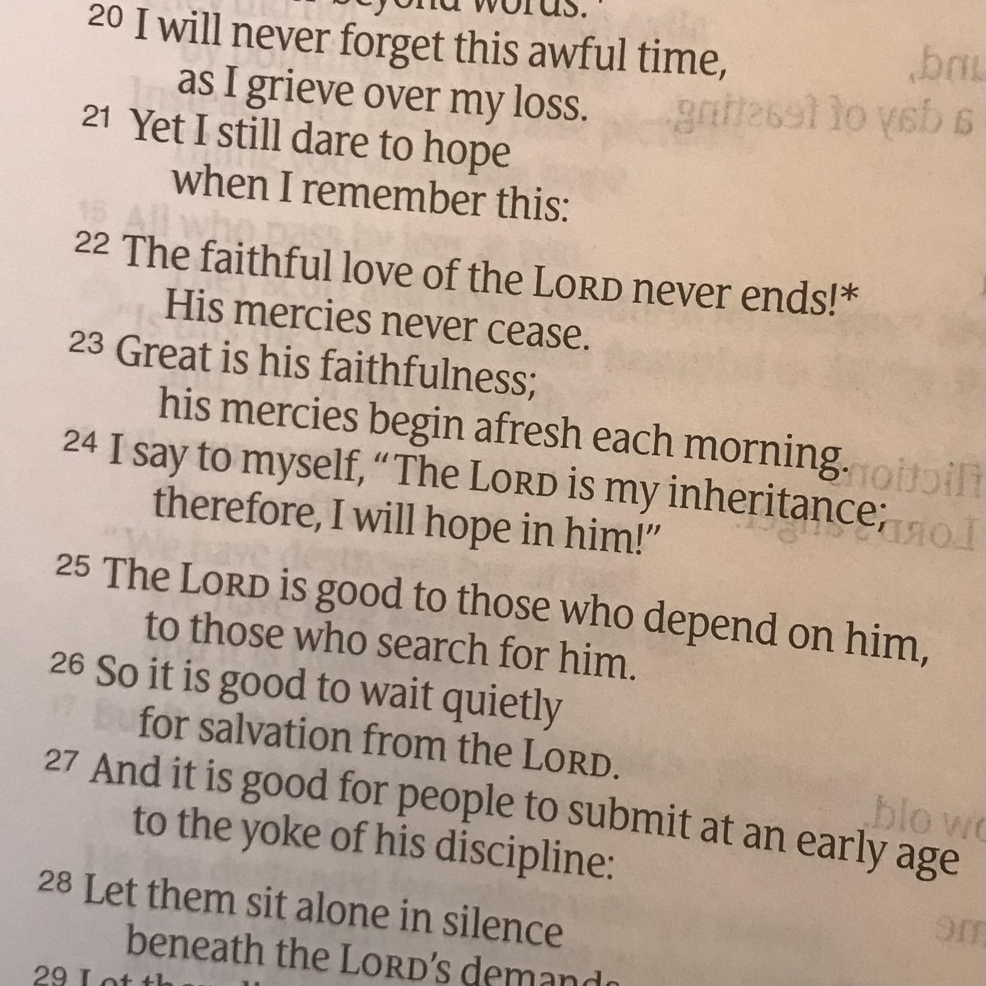 Lamentation 3:22-24